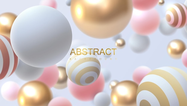 Fondo abstracto con bolas que rebotan 3d