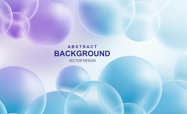 Fondo abstracto con bolas realistas que caen, burbujas brillantes de vuelo dinámico