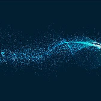 Fondo abstracto brillante brillo azul