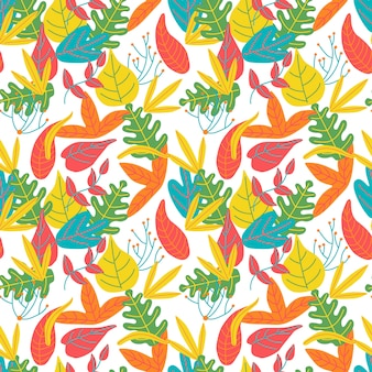 Fondo abstracto brillante colorido de las hojas deja