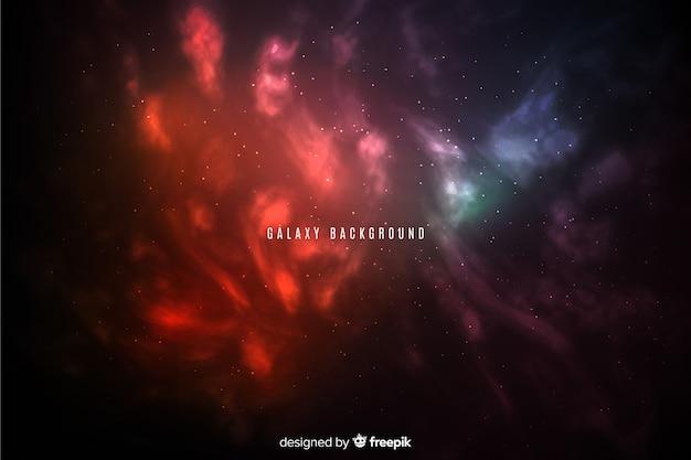 Fondo abstracto y brillante de galaxia de estilo degradado