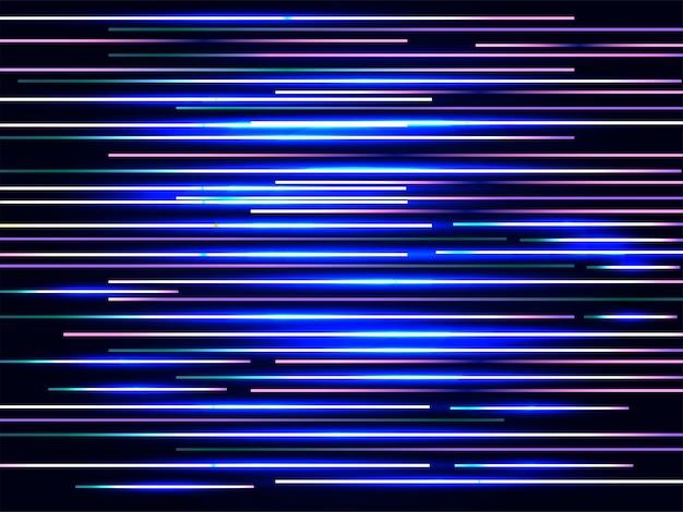Fondo abstracto brillante de la luz laser de la velocidad.