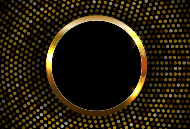 Fondo abstracto brillante marco dorado brillante.