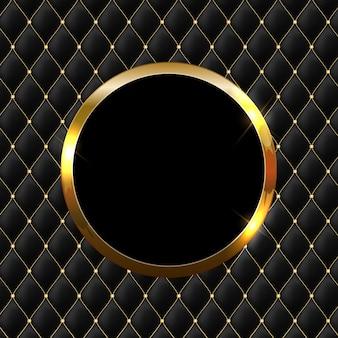 Fondo abstracto brillante marco dorado brillante