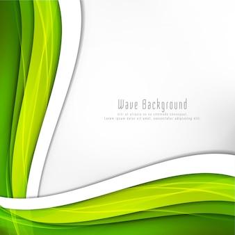 Fondo abstracto brillante onda verde