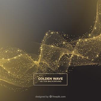 Fondo abstracto de brillantina dorada