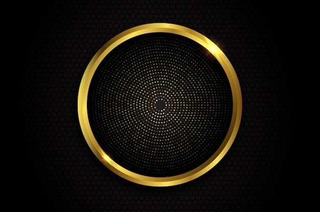 Fondo abstracto con brillo de círculo de oro