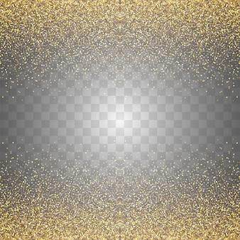 Fondo abstracto de brillos dorados transparentes