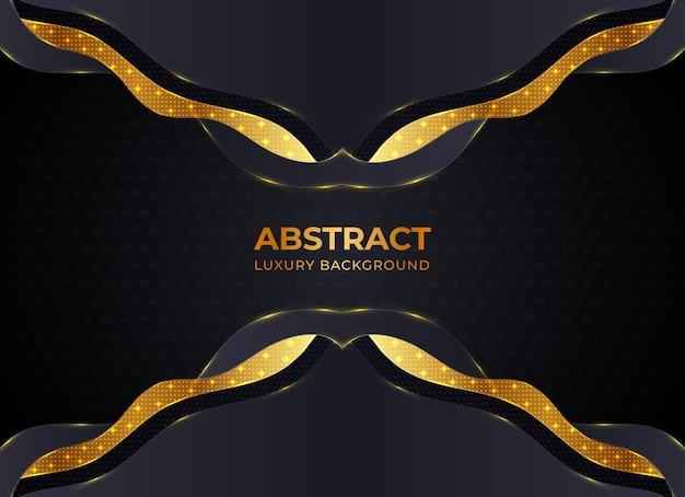 Fondo abstracto con capas de papel negro