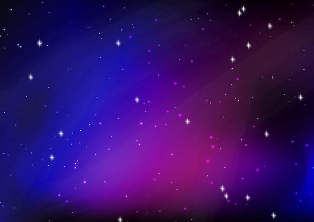 Fondo abstracto cielo estrellado