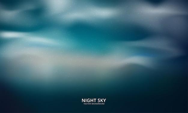 Fondo abstracto del cielo nocturno. ilustración vectorial