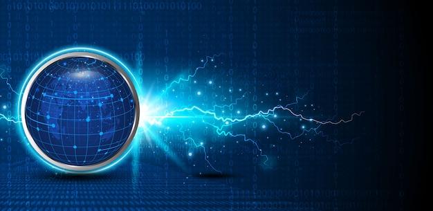 Fondo abstracto del circuito digital de la esfera de la tecnología