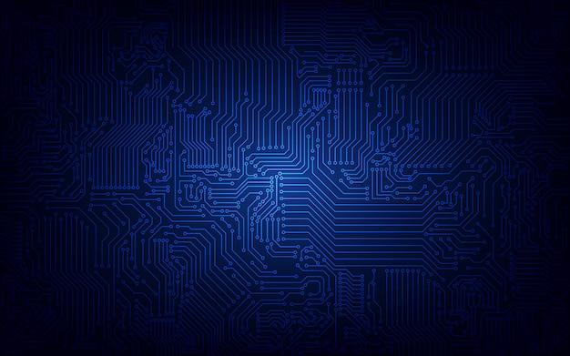 Fondo abstracto circuito tecnológico.