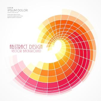 Fondo abstracto circular geométrico con tonos cálidos