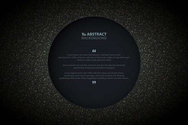 Fondo abstracto círculo dorado