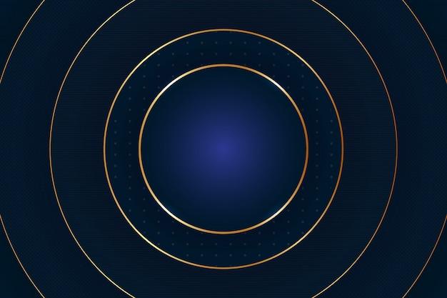 Fondo abstracto del círculo de lujo. ilustración del vector. fondo abstracto de forma redonda dorada