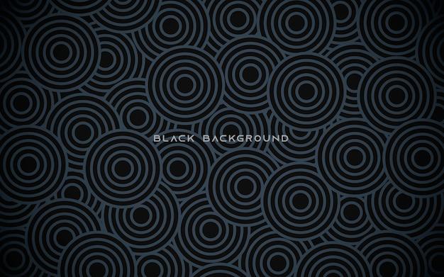 Fondo abstracto de círculo negro
