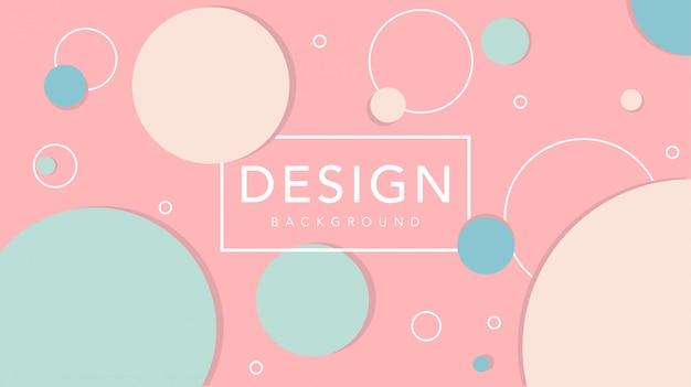 Fondo abstracto de círculo con plantilla de color pastel