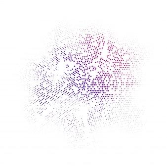 Fondo abstracto con círculos de colores