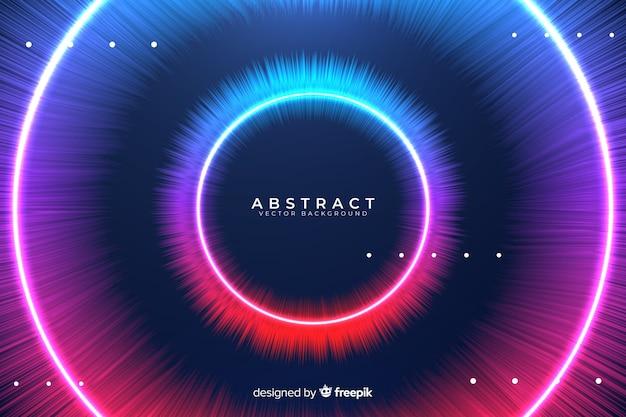Fondo abstracto círculos coloridos
