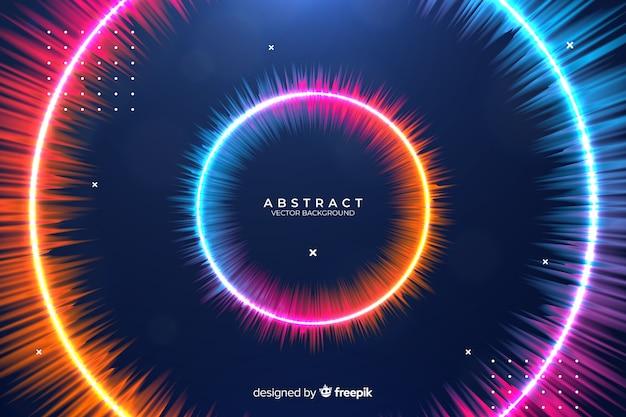 Fondo abstracto círculos gradiente