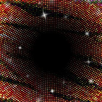 Fondo abstracto con círculos punteados