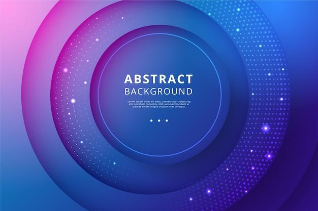 Fondo abstracto con círculos y puntos
