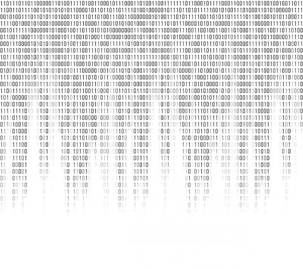 Fondo abstracto de código binario de computadora virtual