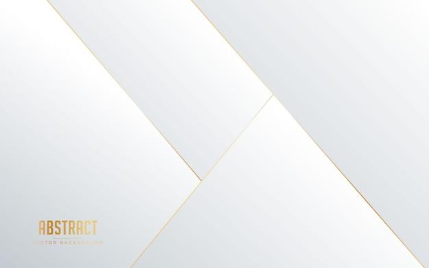 Fondo abstracto de color blanco y gris con línea de color dorado.