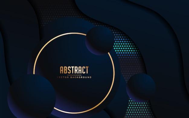 Fondo abstracto con color negro y azul de lujo