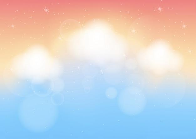Fondo abstracto de color pastel con bokeh
