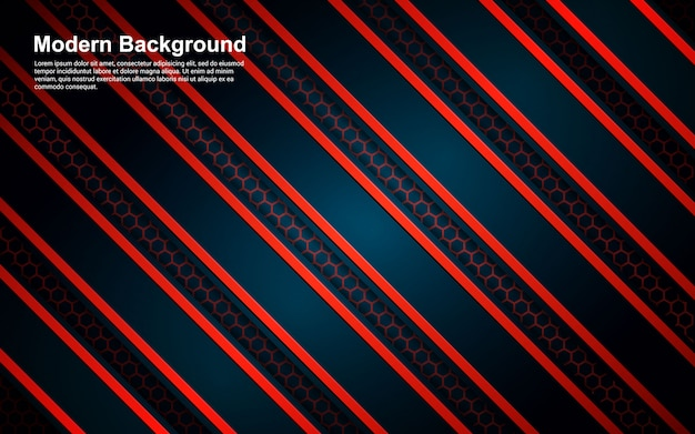Fondo abstracto color rojo y negro