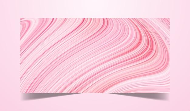 Fondo abstracto de color rosa dinámico fluido o líquido