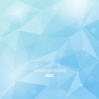 Fondo abstracto de colores de invierno con triángulos transparentes. fondo de diseño moderno.