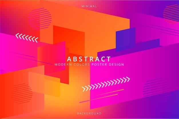 Fondo abstracto con colores modernos