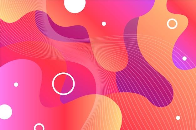 Fondo abstracto de colores vivos con formas