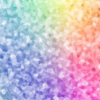 Fondo abstracto colorido cristal polygin
