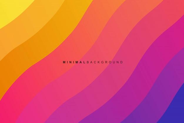Fondo abstracto colorido curva