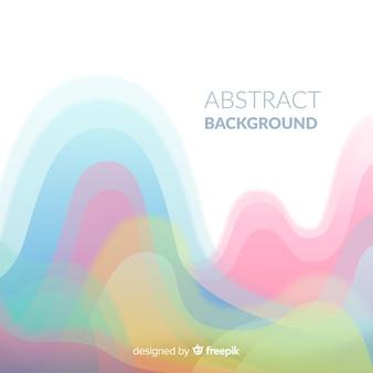 Fondo abstracto colorido con diseño plano