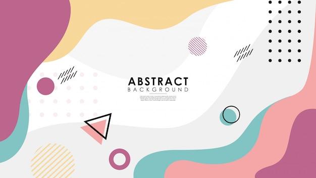 Fondo abstracto colorido con estilo memphis