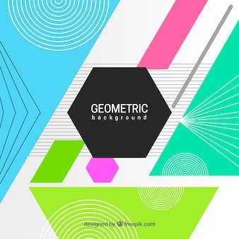 Fondo abstracto colorido con figuras geométricas