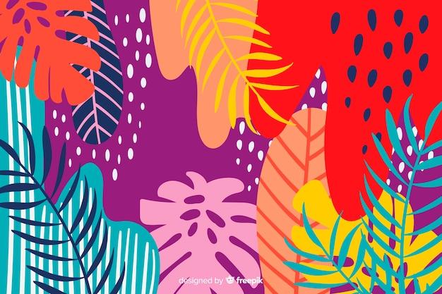 Fondo abstracto colorido floral