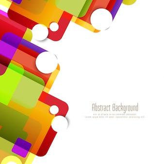 Fondo abstracto colorido forma geométrica