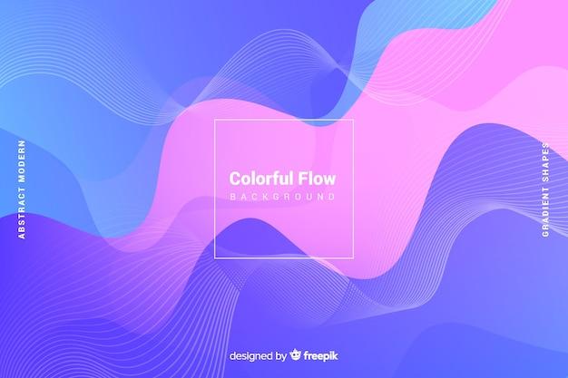 Fondo abstracto colorido con formas fluidas