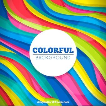 Fondo abstracto colorido con formas onduladas