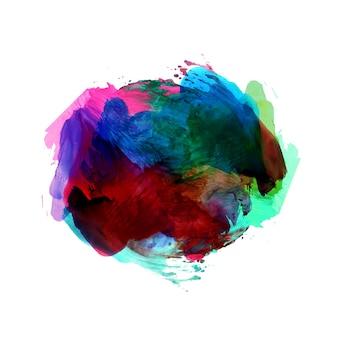 Fondo abstracto colorido mancha de acuarela