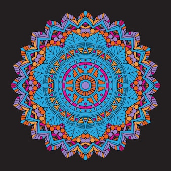 Fondo abstracto colorido mandala