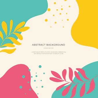 Fondo abstracto colorido de memphis