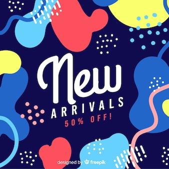 Fondo abstracto colorido de nuevas llegadas