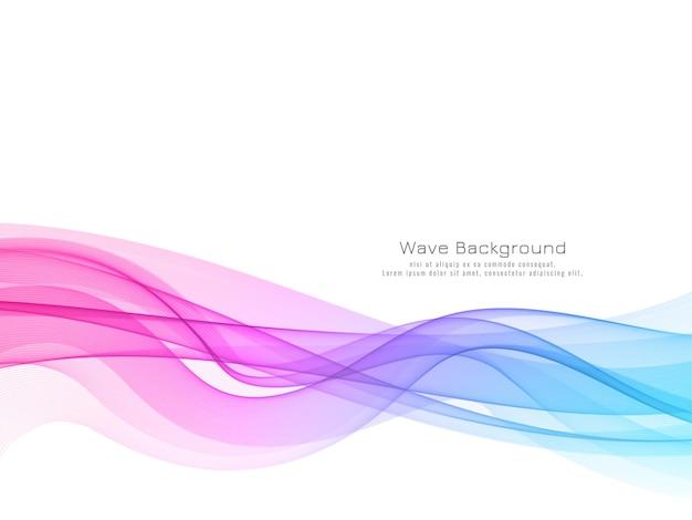 Fondo abstracto colorido de la onda